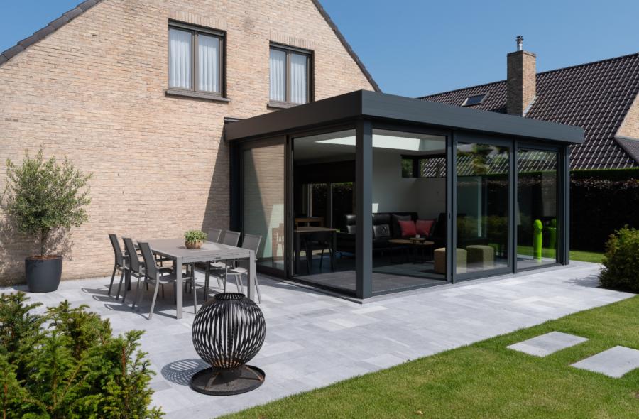 Moderne aluminium veranda in Ninove 5