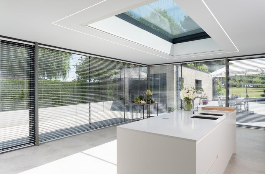Moderne veranda keuken in Gent